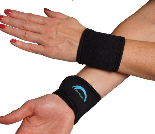 SISYAMA 2x Adjustable Neoprene Wrist Support WristBands SIZE Men Women Youth Kid 360° COMFORT FIT