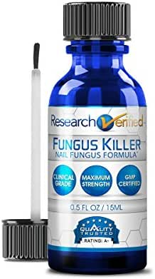 Research Verified Nail Fungus Killer – Anti Nail Fungus Treatment,100% Natural with Undecylenic Acid – Highly Effective Toenails and Fingernails Anti Fungal Nail Solution - 1 Bottle (1 Month Supply)