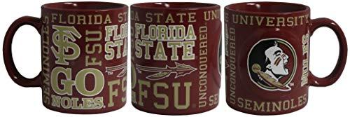 Boelter NCAA Florida State Seminoles 14oz Slogan Mug (State Florida Seminoles Ceramic)
