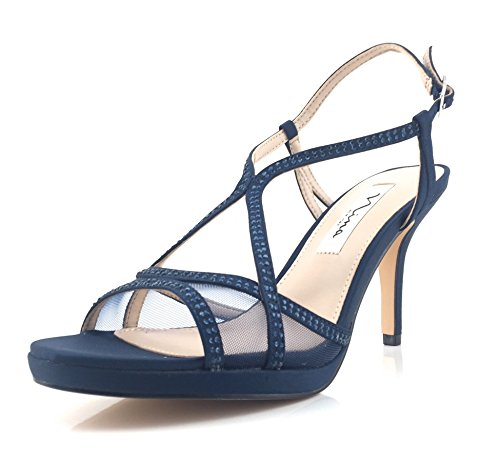 Nina New York Women's Fashion Sandals Blue Blue XMAYQfhg