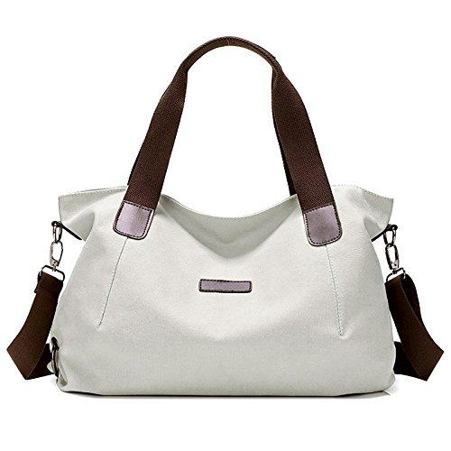 Capacity Canvas Women's Purse Top Handle Crossbody Beige Hobo Bag Tote Large Fanspack Bag Handbags Shoulder Vintage gwABvvq5