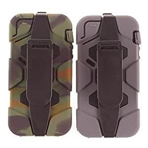 SUMCOM Waterproof Shockproof Hard Military Duty Case Cover for iPhone5/5S(Assorted Colors) , Gray