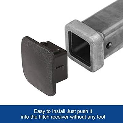CZC AUTO Trailer Hitch Cover, 2 inch Tow Receiver Tube Plug Cap, 2