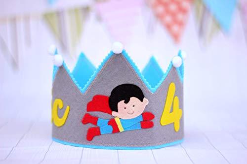Corona cumpleaños, corona de fieltro personalizada, fiesta ...