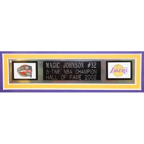 size 40 22a58 39c73 Magic Johnson Autographed Yellow Lakers Jersey - Beautifully ...