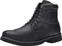 Steve Madden Men's Crosserr Black Leather Boot 9.5 D (M)