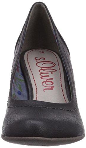 s.Oliver  22404, Chaussures à talons - Avant du pieds couvert femme - Noir - Noir, 41 EU