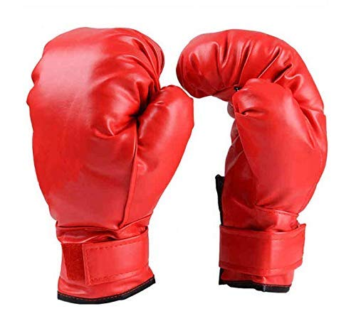 1Pair Leather Boxing MMA Gloves Training Punching Cage Fighting Glove Quick Wrap