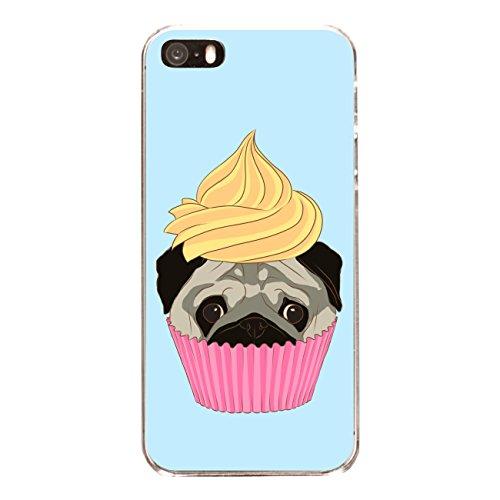 "Disagu SF-sdi-3788_1168#zub_cc4844 Design Schutzhülle für Apple iPhone 5S - Motiv ""Pugcake 01"""