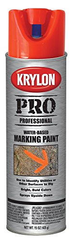 (Krylon K07321007 Water-Based Contractor Making Spray Paint, Fluorescent Red/Orange, 15 Ounce )