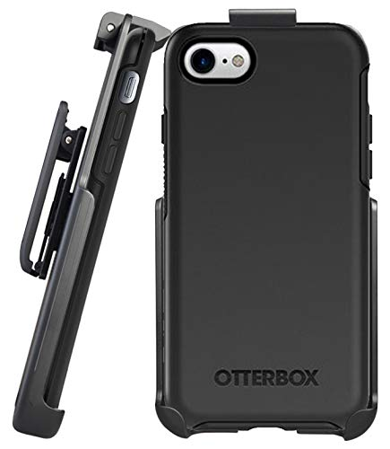 - Belt Clip Holster for OtterBox Symmetry Series - iPhone 7/8 (case not Included) - Features: Secure Fit, Quick Release Latch, Durable Rotating Belt Clip & Built-in Kickstand