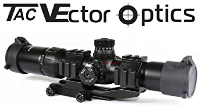 Vector Optics Tactical 1.5-4x30 Tri illuminated Chevron Reticle Scope Riflescope for .223/5.56 Rifles by Vector Optics