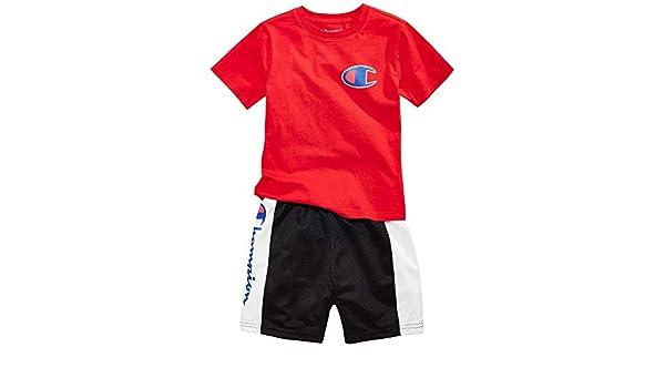 ba546a49 Amazon.com: Champion 2-Pc. Heritage T-Shirt & Colorblocked Shorts Set,  Toddler & Little Boy's: Clothing