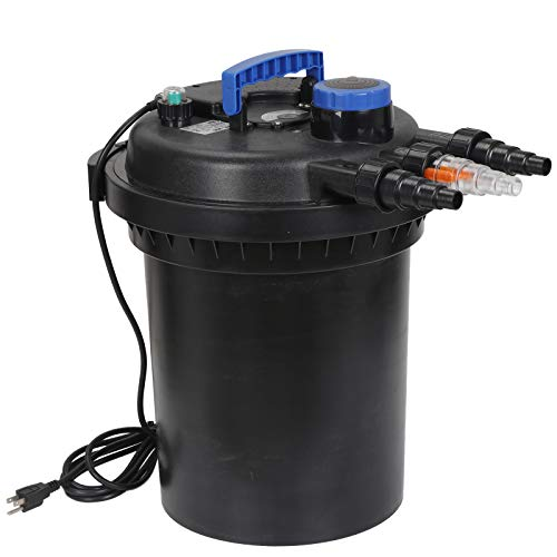 ZENY Pressure Bio Filter for Pond 13W UV Sterilizer Purifier Light 10000L Koi Water 4000 Gallons Easy Backwash Function