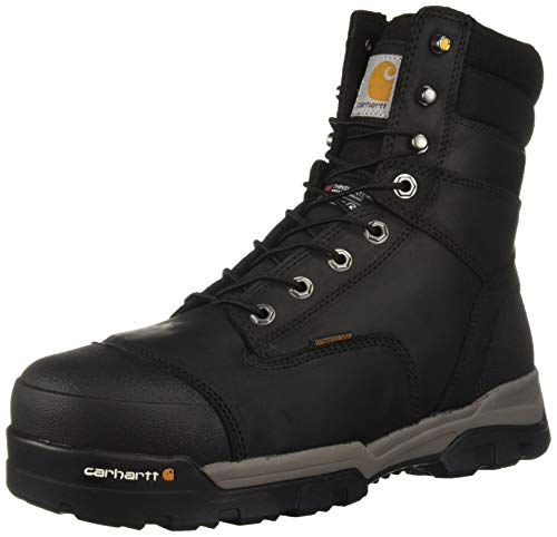 (Carhartt Men's CSA 8-inch Ground Force Wtrprf Insulated Work Boot Comp Safety Toe CMR8959 Industrial, Black Oil Tanned, 13 W US)
