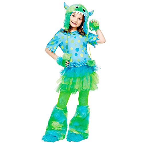 Fun World girls Big Girls' Monster Miss Costume Large (12 - 14) (Monster Costume Girls)