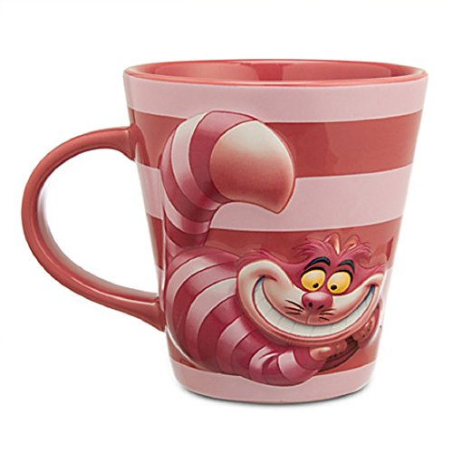 Disney Store Cheshire Cat Coffee Mug Cup Pink Mauve 2014