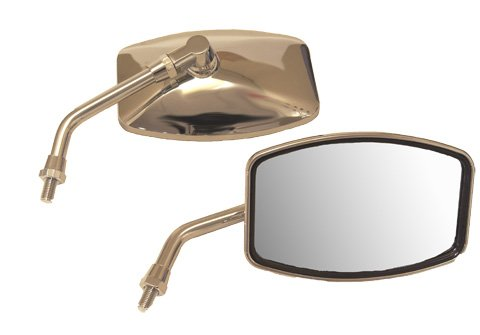 Emgo Universal Cruiser Mirror - Big One, 4 1/4 H x 6 1/4 W, 10mm Thread, Honda, Kawasaki, Suzuki 20-42460
