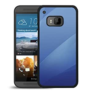 Aqua Blue Layers Durable High Quality HTC ONE M9 Phone Case