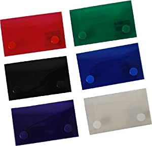 Filexec 2 x 3.5 Inch Mini Case, Snap Button Closure, Assorted (Pack of 12) (50099-2045)