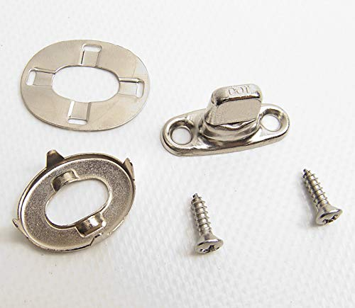 Turn Button, Eyelet, Heavy Duty Backing Plate with Mounting Screws, Common  Sense Fasteners, Marine Grade 20 Piece Set