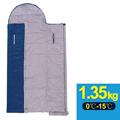 Schlafsack Outdoor Adult Herbst Und Winter Dicke Warme Mittagspause Ultra Light Camping Doppel Innen Vier Jahreszeiten Baumwolle Schlafsack