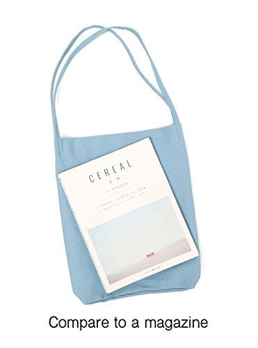 Canvas Tote Bag Handbag Shoulder Bag Purses For Men And Women (Light blue) by Jeelow (Image #6)