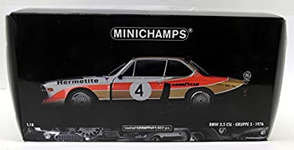 Minichamps 180762004 - BMW 3.5 CSL Turbo 1976 GRP. 5 Hermitite equipo, Ganadores de