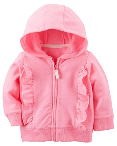 Carter's Girls' French Terry Hoodie (12 Months, (Pink Terry Hoodie)