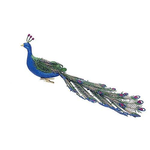 Kurt Adler Plastic Peacock Clip-On Ornament]()
