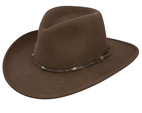 Stetson Men's Mountain Sky Crushable Wool Hat (XX-Large) Crushable Wool Outback Hat