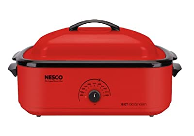 Nesco Classic Roaster Oven, 18-Quart, Porcelain Cookwell