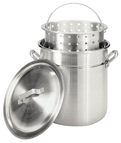 Bayou Classic 4042 42 Quart Aluminum Turkey Fryer Steamer Combo 5390737 (Bayou Classic With Lid Steamer)