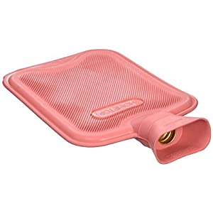 HomeTop Premium Classic Rubber Hot Water Bottle, Great for Pain Relief, Hot and Cold Therapy (2 Liters, Red)