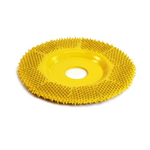 "Fine Grit Saburr Tooth FD250 Yellow 2"" Flat Grooving Wheel"