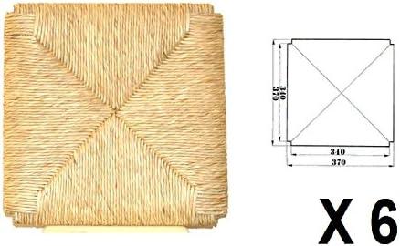 de Paja Asientos Fondo sesi/ón Mod Envejecida X 6/ Desconocido gen/érico Repuesto para Silla Estructura Mod. 996