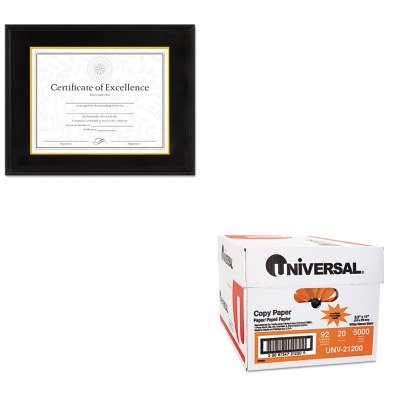 KITDAX1511TBUNV21200 - Value Kit - DAX MANUFACTURING INC. Hardwood Document/Certificate Frame w/Mat (DAX1511TB) and Universal Copy Paper (UNV21200)