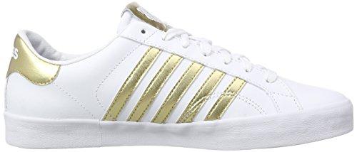 K-Swiss Belmont So, Zapatillas para Mujer Blanco (White/gold 194)