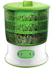 Automatische Sprouter Bean Growing Machine, Cereal Sprouts Maker Grote capaciteit 3 ??Lagen Intelligentie Thermostaat Groene zaadteler Automatische bewatering (3 lagen)