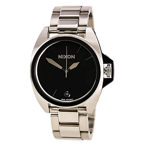 (Nixon Men's A396000-00 Anthem Analog Display Japanese Quartz Silver Watch)
