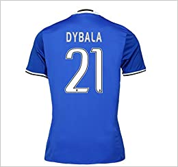 official photos c6734 38839 Juventus FC No.21 Dybala Men's Away Soccer Jersey 16/17 Size ...