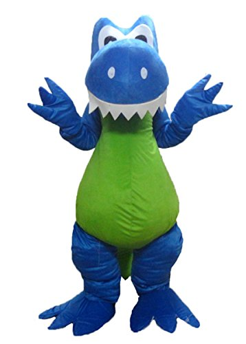 ARISMASCOTS Lovely Adults Blue Dinosaur Mascot Costume for College Sports Mascot Made Deguisement Mascotte]()