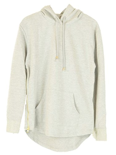Hop Classic Pullover Long Zipper Hoodie Sweatshirts Jacket Grey L ()