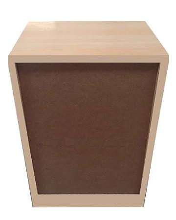 Cajonera para armario en 5 cajones Montada, dimensiones (80 ancho x 50 fondo x 90 de altura), color roble