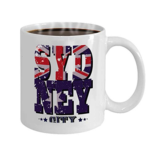 Funny Gifts for Halloween Party Gift Coffee Mug Tea sydney city typography -