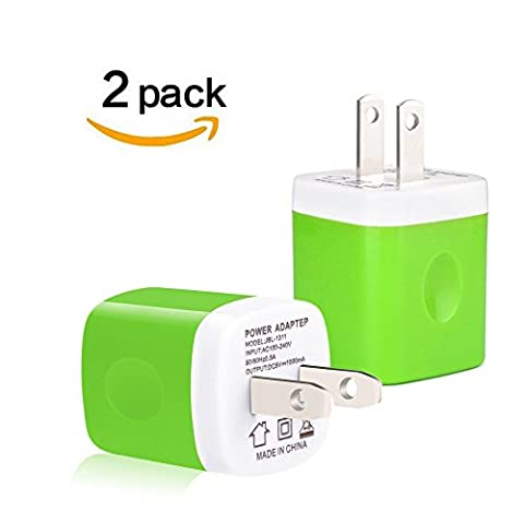 Wall charger plug, Asstar Universal usb adapter Wall Charger plug for iPhone 7/7 plus Iphone 6 5 5s, Ipad 6 , Ipad Mini, Ipod Touch, Samsung Galaxy S7 edge S6 & Android (white 2 (Lg Optimus F3 Metal Case)
