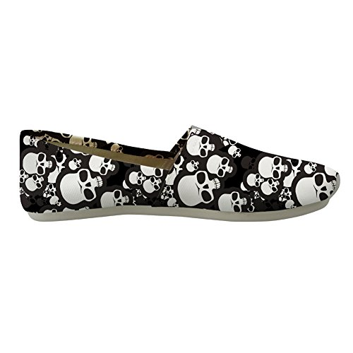 Casual Stylish Girls Nopersonality skull Canvas Pumps Loafers Women for 5 Style Floral Flats UttawvABqY
