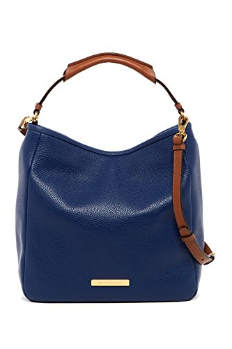 Marc by Marc Jacobs Softy Leather Saddle Hobo Bag (Dark Blue)