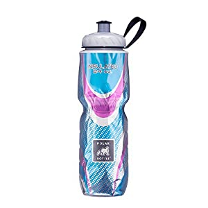 Polar Bottle Insulated Water Bottle (Spin Bermuda) (24 oz) - 100% BPA-Free Water Bottle - Perfect Cycling or Sports Water Bottle - Dishwasher & Freezer Safe
