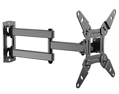 Full Motion TV Wall Mount Bracket fits to Most 13-40 inch TVs & Monitors, Wall Mount TV Bracket with Arm Articulating Tilt Swivel & Extends 14.5